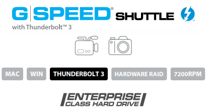 G-SPEED Shuttle with Thunderbolt 3 Description