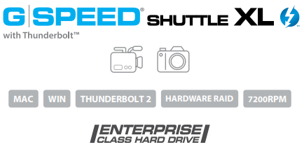 G-SPEED Shuttle with Thunderbolt 2 Description