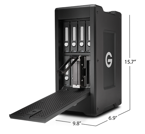 G-SPEED Shuttle XL Thunderbolt 3 with ev Series Bay Adapters Specifications