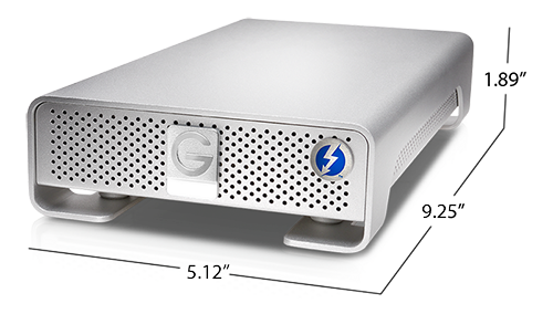 G-DRIVE Thunderbolt Specifications