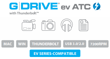 G-DRIVE ev ATC with Thunderbolt Description