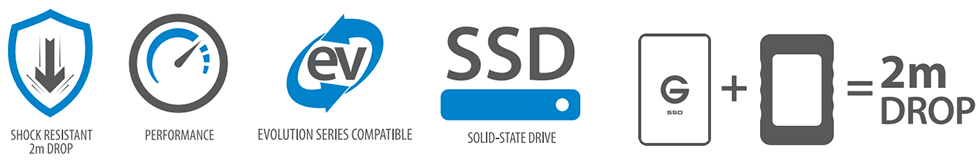 G-DRIVE ev RaW SSD Features