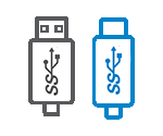 USB 3.0 and USB-C Compatible